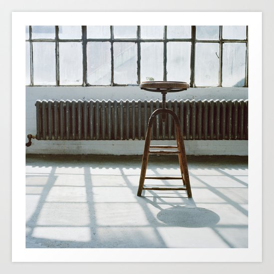 Stool in Factory Art Print