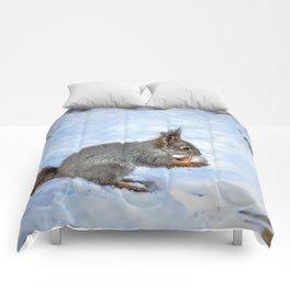 Walnut with snow Comforters