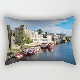 York City Guildhall and river Ouse Rectangular Pillow