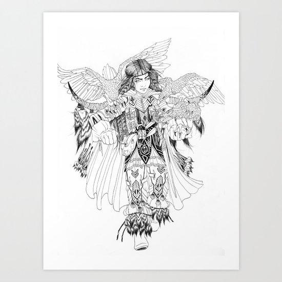 Eagle Hunter Art Print