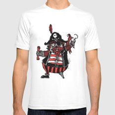 The Captain Pirate inspired by Captain Pugwash Mens Fitted Tee White MEDIUM