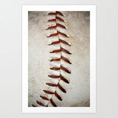 Vintage Baseball Stitching Art Print