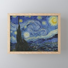 The Starry Night by Vincent van Gogh Framed Mini Art Print