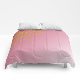 gold lines on pinks Comforters
