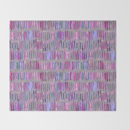 Messy Watercolor Stripes in Pink and Purple Throw Blanket