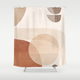 Abstract Minimal Shapes 16 Shower Curtain
