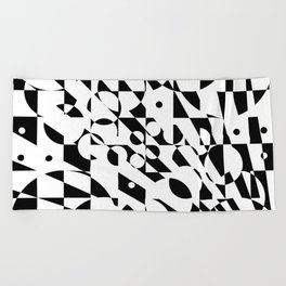 Fractured Structure Beach Towel