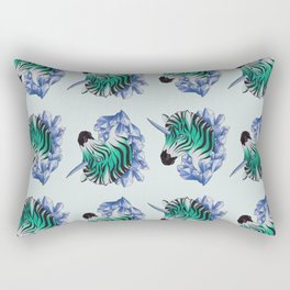 Aqua Zebracorn Rectangular Pillow