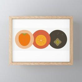 Kaki fruit Time! Framed Mini Art Print