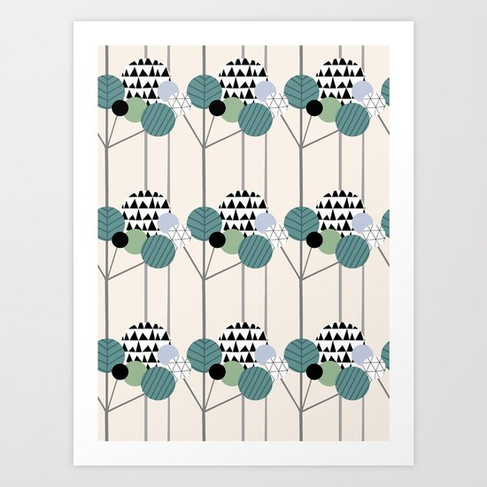 Round trees Art Print