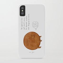 the spherical bear iPhone Case