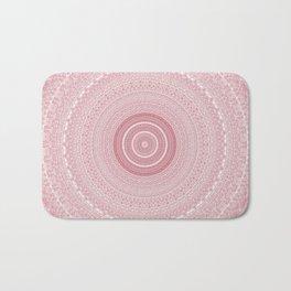 Boho Chic Glittery Pink Pastel Mandala Badematte