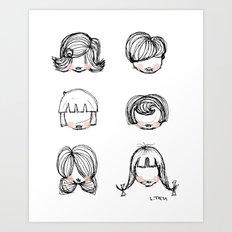 Hairstyles Art Print