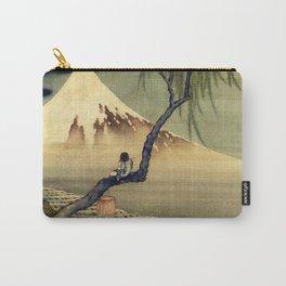 Katsushika Hokusai Boy Viewing Mount Fuji Carry-All Pouch