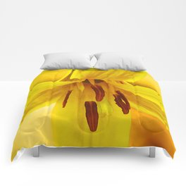 Day Lily, Closeup Comforters