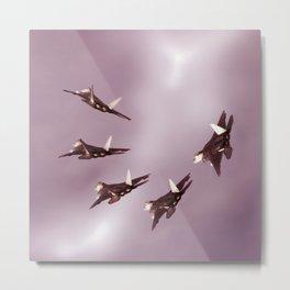 Five raptors Metal Print