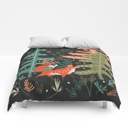 Evergreen Fox Tale Comforters