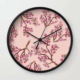 Sakura Branch Painting Wall Clock
