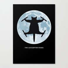THE CATCOPTER - Humor | Meme | Cat | Internet | Funny | Animal | Bizzarre | Moon  Canvas Print