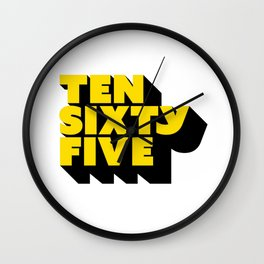 TEN SIXTY FIVE BLACK Wall Clock