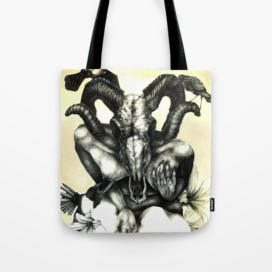 The Ram and the Crows Tote Bag