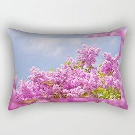 Lilac vibrant pink bunches Rectangular Pillow