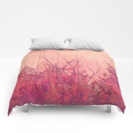 Lost in Pink (Carmine Pink Botanic Garden) Comforters