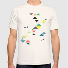 Triangles Mens Fitted Tee Natural LARGE
