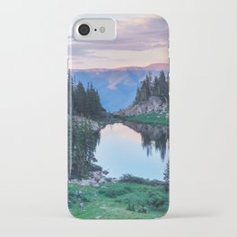 Hikers Bliss Perfect Scenic Nature View \ Mountain Lake Sunset Beautiful Backpacking Landscape Photo iPhone Case