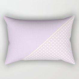 Heartless 2 - Lavender + White/ Yellow Rectangular Pillow