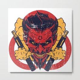Cloud Chaser - Vaping Devil Metal Print