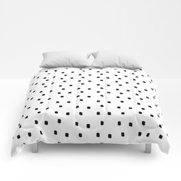Dotty Dots Black and white Comforters
