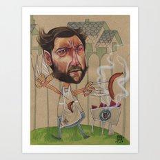 LOGAN'S BBQ Art Print
