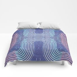 Streaks & Curves Abstract Paint Strokes Comforters