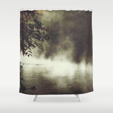 a place beyond - river scene Shower Curtain