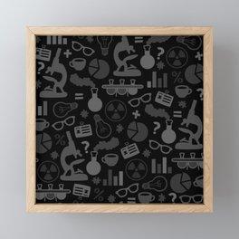 Grey and Black Science Pattern Framed Mini Art Print