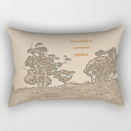 """""""Catalina Trees #2"""" with poem: Simple Friendship Rectangular Pillow"""