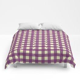 EGGPLANT CHECK Comforters