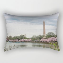 Cherry Blossoms Festival Rectangular Pillow