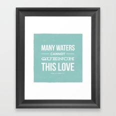 Many Waters Framed Art Print