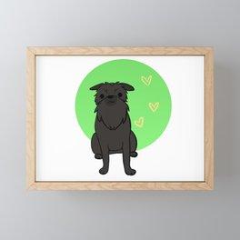 Black Brussels Griffon Framed Mini Art Print