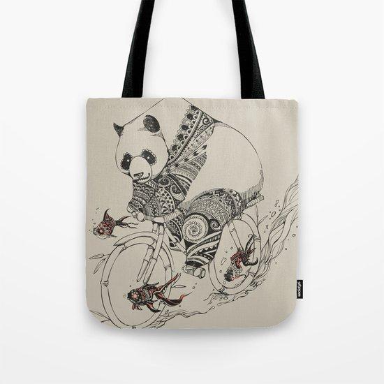 Panda and Follow Fish Tote Bag