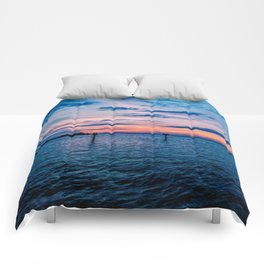 Sunset on the Gulf of Mexico Comforters