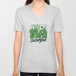 Cool Cucumbers Lover Vegetables Cucumber Unisex V-Neck