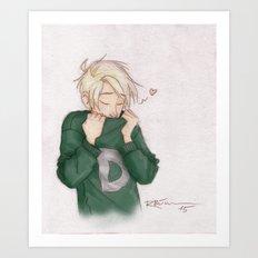 Draco - Weasley Sweater Art Print