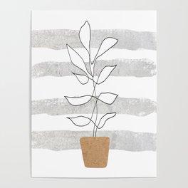 Scandi Plant Poster