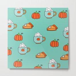 pumpkin latte Metal Print