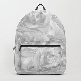 Grey Impressionist Roses Backpack