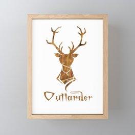 OUTLANDER DEER Framed Mini Art Print