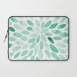 Watercolor brush strokes - aqua Laptop Sleeve